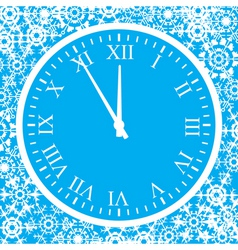 5 minutes up to christmas vector image
