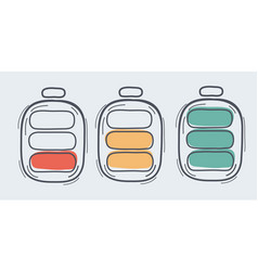 A battery charge status icon vector