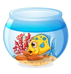 A jar with a fish vector image