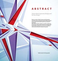 abstract geometric background contemporary style vector image vector image
