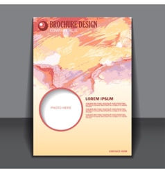 Abstract watercolor style brochure design vector image