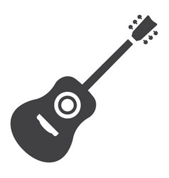 acoustic guitar glyph icon music and instrument vector image