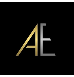 AE letters logo vector