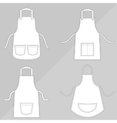 Aprons with outsets and pockets vector