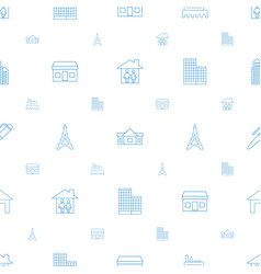 Architecture icons pattern seamless white vector