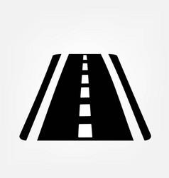 asphalt road icon vector image