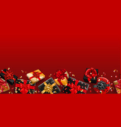 background with repeating gift boxes vector image