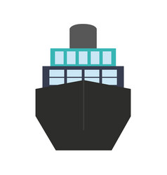 Big ship icon vector