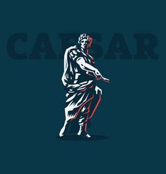 caesar emblem vector image