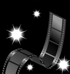 Camera film reel with flashes vector