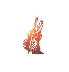 cello classic music woman concert concept vector image