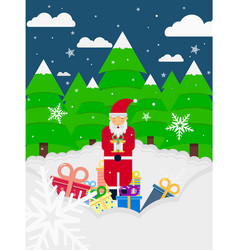 christmas poster flyer card vector image