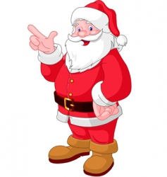Christmas Santa pointing vector image