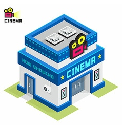 Cinema building vector