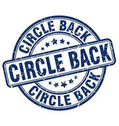Circle back blue grunge stamp vector