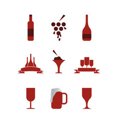 collection wine graphic design template vector image