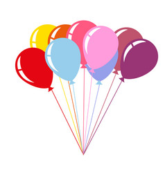 Colorful air balloons isolated on white background vector