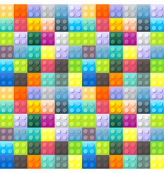 Colorful plastic brick pattern vector image