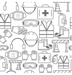 Different line style icons seamless pattern safety vector