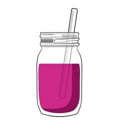 Doodle smoothie jar vector