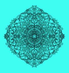 ethnic pattern authentic blue mandala print vector image