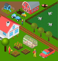 Farm isometric vector