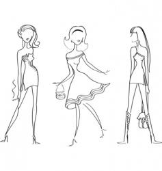 Fashion girl6 vector