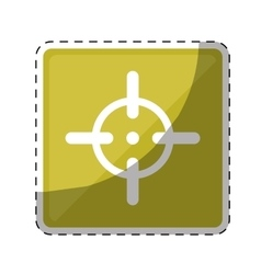 firearm aim or target icon image vector image