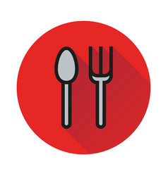 Fork spoon icon on white background vector