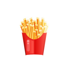 french fries at white background vector image