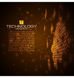 Futuristic digital background with space for text vector image