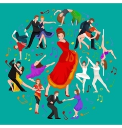 Girl flamenco dancer in red dress spanish vector image