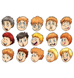 Group of heads vector image