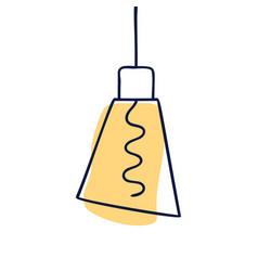 Hand drawn geometric loft lamps edison lamps vector