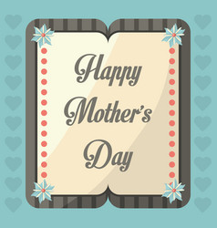 Happy mothers day greeting celebration image vector