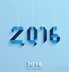 Happy New Year Card blue style vector image
