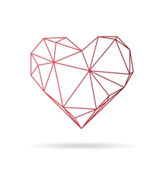 Heart abstract isolated on a white backgrounds vector image