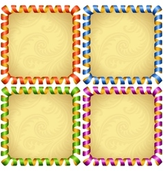 Holiday square frame set vector