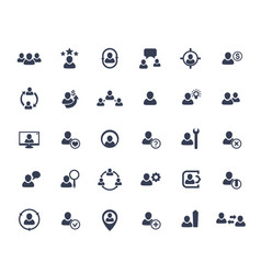 Human resources hr staff management icons vector