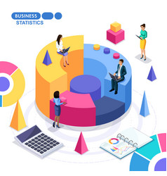 isometric is concept business team success vector image