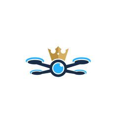 king drone logo icon design vector image