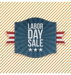 Labor Day Sale greeting paper Emblem vector