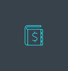 Ledger concept blue line icon simple thin element vector