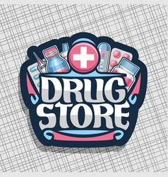 Logo for drug store vector