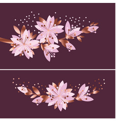 Luxury elegant floral pattern vector