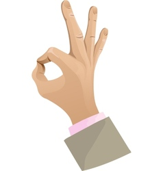 Man hand showing ok sign vector image
