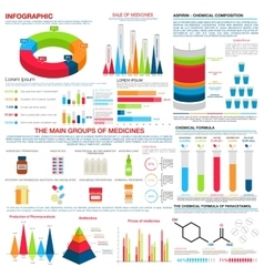 Medical or pharmacy infographics design vector