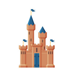 medieval castle fairytale fortress with blue vector image
