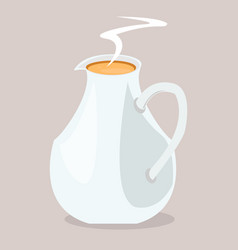 Milk pot vector