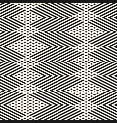 monochrome abstract zigzag lines seamless pattern vector image